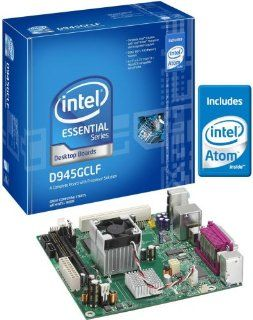 Intel D945GCLF Essential Series Mini ITX DDR2 667 Intel Graphics Integrated Atom Processor Desktop Board   Retail: Electronics