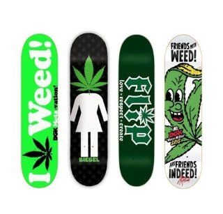 4 DGK Girl Flip Weed 420 8.0 Skateboard Deck Lot : Sports & Outdoors