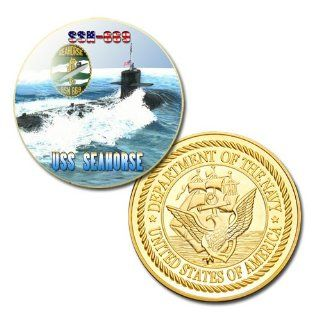 U.S Navy USS Seahorse (SSN 669) printed Challenge coin