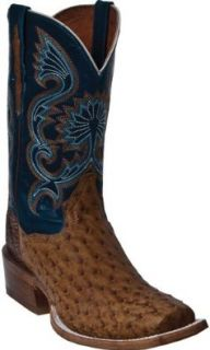 Dan Post Men's Robertson Full Quill Ostrich Cowboy Boot Square Toe Shoes