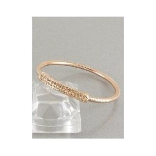 Designer Inspired Rose Gold Rhinestone Bangle Bracelet Strand Bracelets Jewelry