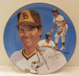 "STEVE GARVEY ""6""   Baseball Collector PLATE / ""Consecutive Game Edition""(approx. 10 1/4"" in Diameter)   (#684 / 10, 000)   in a San Diego Padres Uniform   by Hackett American Collector's Co.   Sports Related Trading Cards"