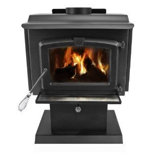 Pleasant Hearth 1, 200 Square Feet Wood Burning Stove, Small   Fireplaces
