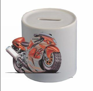 SUZUKI HAYABUSA Koolart CERAMIC MONEYBOX (FREE PERSONALISATION )694   Toy Banks