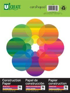 U:Create Construction Paper, 9 x 12 Inches, Assorted Colors, 96 sheets (696) : Office Products