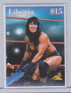WWE Wrestling China with Chair Liberia Stamp Unused at 's Sports Collectibles Store