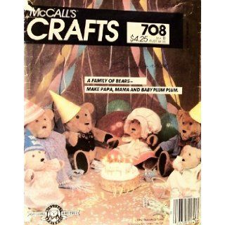 Rare, Vintage 1983 Crafts Pattern 708 or 8831. A Family of Bears: Papa, Mama & Baby Plum Plum & Their Clothes. A Bialosky & Friends Design: McCalls: Books