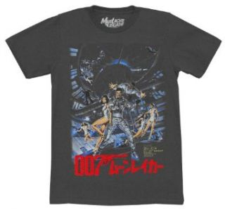 007 James Bond Moonraker Japanese Poster Logo Movie Mighty Fine Adult T Shirt Tee Clothing