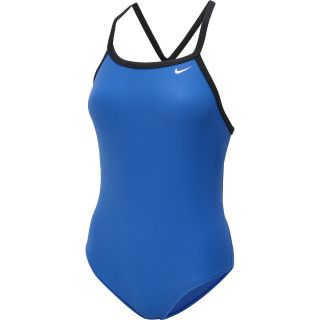 NIKE Womens Core Solid Lingerie Tank One Piece Swimsuit   Size 34, Game Royal