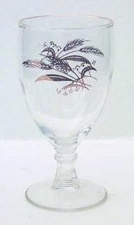 Lifetime Prairie Gold 8 Oz Glassware Goblet, Fine China Dinnerware   Gold Wheat