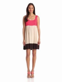 Tiana B Women's Scoopneck Colorblock Dress, Coral/Multi, Small at  Women�s Clothing store