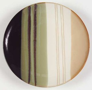 Home Trends Jazz Salad Plate, Fine China Dinnerware   Striped Bands, Smooth,Coup