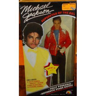 """Michael Jackson """"Superstar of The 80's"""" Beat it Doll Toys & Games"""