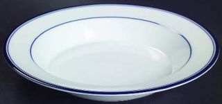 Dansk Allegro Blue(Portugal/Sri Lanka/Thailand Rim Soup Bowl, Fine China Dinnerw
