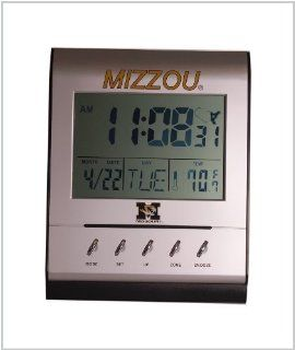 MISSOURI TIGERS (MIZZOU) Collegiate Digital Atomic Clock : Wall Clocks : Sports & Outdoors