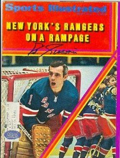 Eddie Giacomin Autographed Sports Illustrated Magazine (New York Rangers)  Sports Related Collectibles  Sports & Outdoors