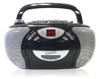 SuperSonic SC 725 Portable CD Player with AM/FM Radio and Cassette Recorder  Boomboxes   Players & Accessories
