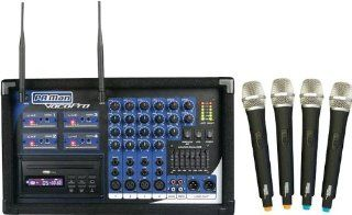 Vocopro PA MAN 4 Channel Wireless Microphone Powered Mixer Musical Instruments