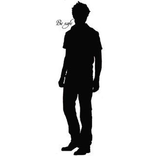 Twilight Edward Cullen Silhouette Large Wall Decal 50 inches   Wall Decor Stickers