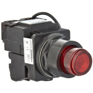 Siemens 52BT6D2A Heavy Duty Push To Test Pushbutton, Water and Oil Tight, Illuminated, Full Voltage, 757 Type Lamp or 6V LED, Red, 1NO   1NC Contact Blocks, 24VAC/VDC Voltage Electronic Component Pushbutton Switches Industrial & Scientific