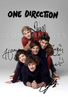 One Direction 1D (11.7 X 8.3) Pop Music Print Signed (Pre print Autograph) Niall Horan Harry Styles Zayn Louis Liam   One Direction Signed Poster