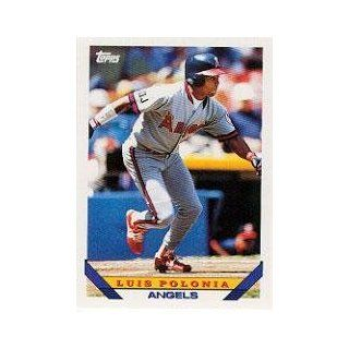 1993 Topps #760 Luis Polonia: Sports Collectibles