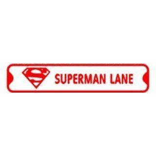 SUPERMAN LANE hero cartoon street sign   Yard Signs