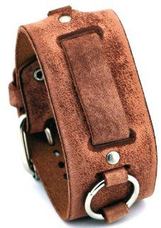 Nemesis #FRB B Wide Light Brown Leather Cuff Watch Band at  Women's Watch store.