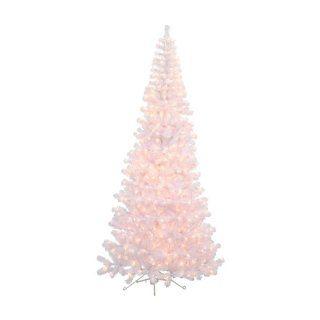 7.5 ft. White Corner Pre Lit Christmas Tree
