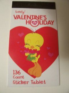 Looney Tunes Tweety Valentine Sticker Book ~ 136 Count (Bouquet of Hearts) Toys & Games