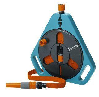 Gardena 756 49.5 Foot Flat Garden Hose In Cassette With End Connector & Spray Nozzle  Patio, Lawn & Garden