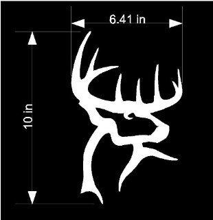 10in White Buck Commander Sticker Decal Wall Art Window Rtv Truck Car Ranger Ford Chevy Hunter Hunting   Automotive Decals