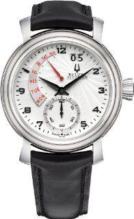 Bulova Accutron Men's 63C102 Amerigo Watch with Black Leather Band Watches