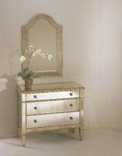 Bassett Mirror 8311 766 Borghese Mirrored Hall Chest   Storage Chests