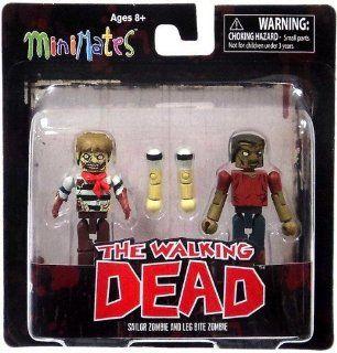 Diamond Select Toys Walking Dead Minimates Series 2 Sailor Zombie and Leg Bite Zombie , 2 Pack Toys & Games