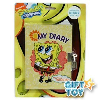 Nickelodeon Spongebob Squarepants Diary with Lock (Yellow Cover)  Other Products