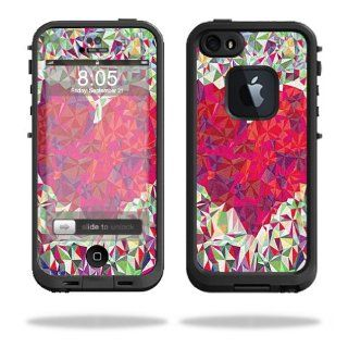 MightySkins Protective Vinyl Skin Decal Cover for LifeProof iPhone 5 / 5S Case fre Case Sticker Skins Stained Heart: Cell Phones & Accessories
