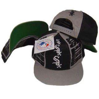 MLB CHICAGO WHITE SOX OLD SCHOOL SNAPBACK FLAT BILL HAT  Sports Fan Baseball Caps  Sports & Outdoors