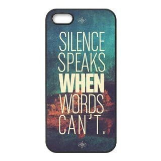 First Design Funny James Shankle   quotes just speak when words can't RUBBER iphone 5 Durable Case: Cell Phones & Accessories