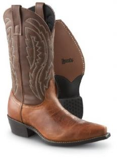 "Men's Laredo Macon 12"" Western Boots Burnt Orange, BURNT ORANGE, 7 Shoes"