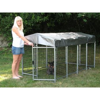 Options Plus 4 ft. High No Tools Folding Kennel   Dog Kennels