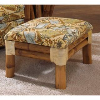 Hospitality Rattan Aloha Bamboo Ottoman   Natural   Wicker Furniture