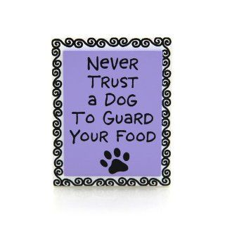 Enesco Our Name Is Mud by Lorrie Veasey Never Trust Dog Magnet 0.787 Inch   Refrigerator Magnets