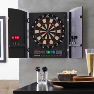 Bullshooter by Arachnid Marauder 5.0 Electronic Dart Board in Cabinet   Electronic Dart Boards