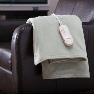 Biddeford Blankets Comfort Knit Electric Heated Throw Blanket   Blankets