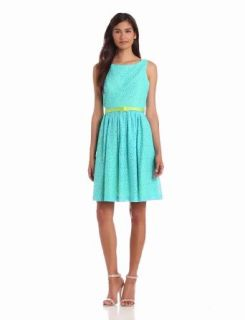Jessica Howard Women's Sleeveless Belted Sundress With Open Back, Turquoise/Green, 14 at  Women�s Clothing store: Dresses
