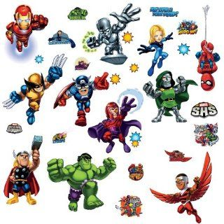 ROOMMATES RMK1751SCS Marvel Super Hero Squad Peel and Stick Wall Decals   Decorative Wall Appliques