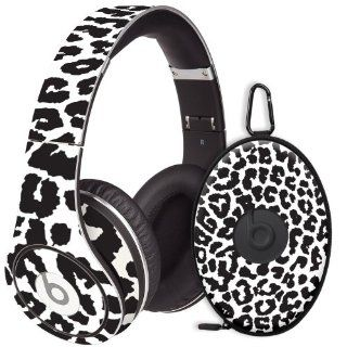 Black and White Leopard Decal Skin for Beats Studio Headphones & Carrying Case by Dr. Dre: Electronics