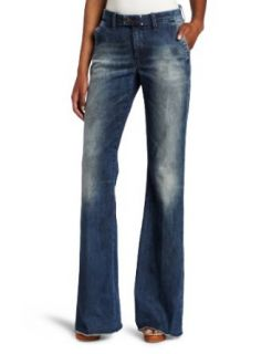 Diesel Women's Flairlegg Pant, Blue, 30 at  Women�s Clothing store: Jeans