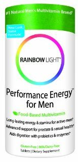 Rainbow Light Performance Energy Multivitamin for Men, Multivitamin Supplement Tablets, 180 tablets Health & Personal Care